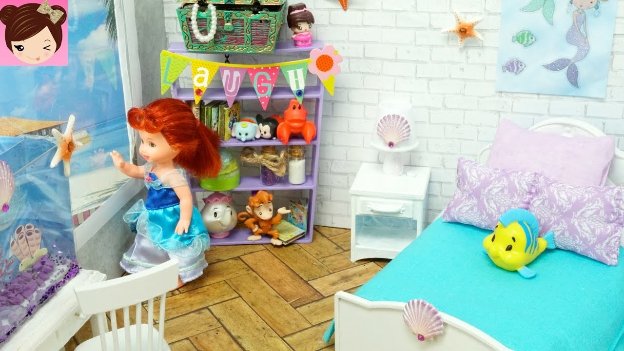 DIY Disney Ariel Mermaid Inspired Toddler Doll Room - Titi Toys and Dolls