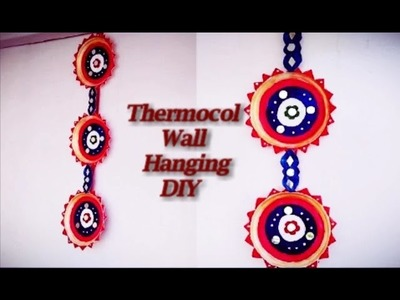 DIY | How to make Wall Hanging using thermocol plates | Thermocol Craft | Best out of Waste