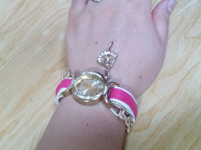 DIY Jewelry Making - How to Make a Watch Bracelet + Tutorial !