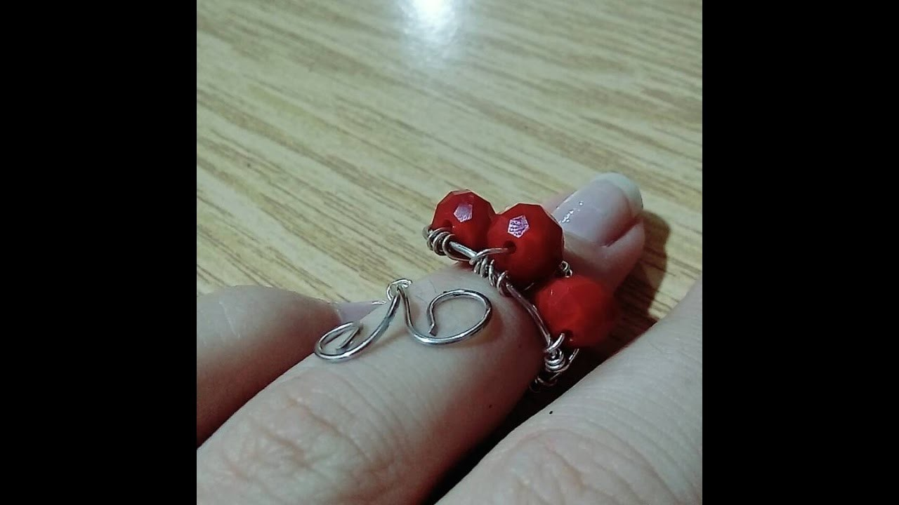 DIY Jewelry Making - How to Make a Simple Beaded Wire Wrap Ring + Tutorial !