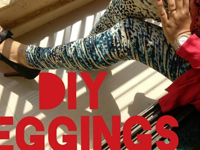 DIY LEGGINGS: HOW TO SEW LEGGINGS AT HOME!!