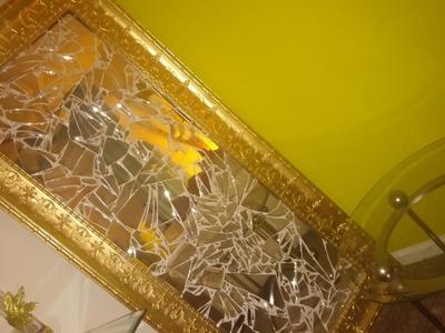 DIY Mosaic Mirror Revamp (tell it all)