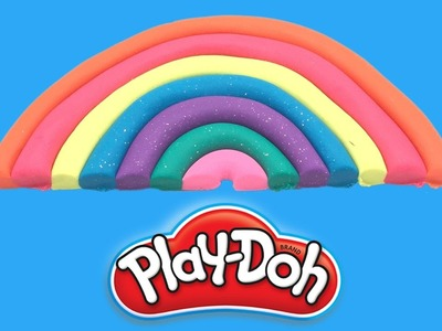 DIY Play Doh Rainbow Fun & Creative for Kids Learn Colors Finger Family Nursery Rhymes