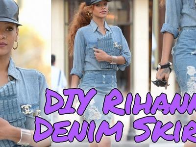 DIY Rihanna Denim Skirt Style Steal. Denimism | HISSYFIT