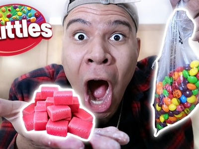 DIY SKITTLES BUBBLE GUM (TURN ANY CANDY TO GUM)