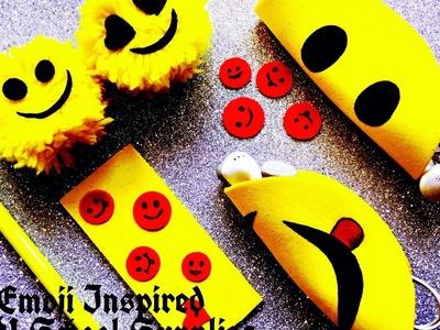 DIY Smiley Inspired School Supplies : Earphone Holder, mini Smiley, Bookmark & pom pom