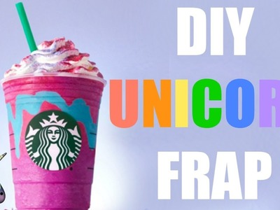 DIY Starbucks Unicorn Frappuccino! | How to make a unicorn frap! | Unicorn Frappuccino Recipe