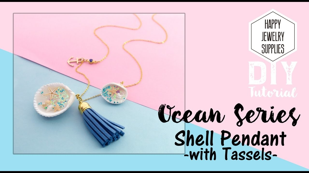 DIY Tutorial-How to Make a Ocean Series Shell Pendant with Tassels Necklace Jewelry