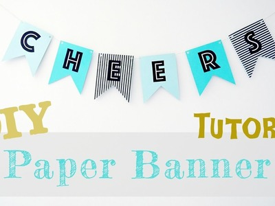 DIY TUTORIAL | Party Banner Garland (2 Point Pennant)