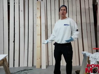DIY White washing pine panelling.   It's easy!