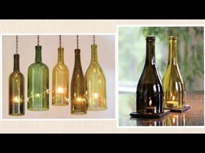 DIY Wine Bottle | Glass Bottle Craft | Candle Holder | Enjoy Crafting # 51