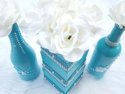 Dollar Tree DIY Wedding Centerpiece | Tiffany Blue Bridal Shower