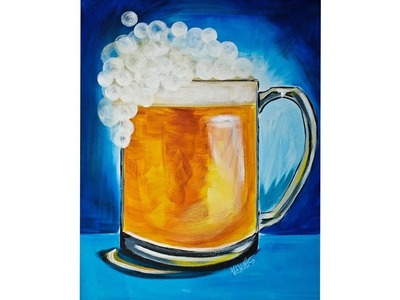 ???? Easy Beginner ???? Acrylic Painting ????  BEER Bar ART ????