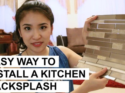 Easy Way to Install a Kitchen Backsplash DIY