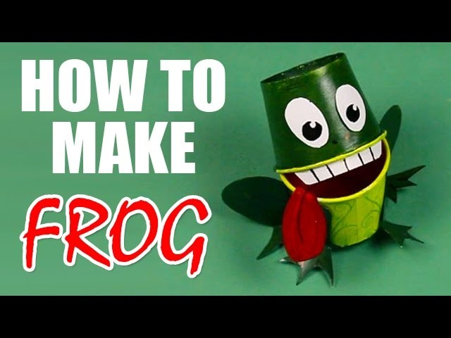 F For Frog - How To Make A Frog With Craft Paper - Step By Step DIY