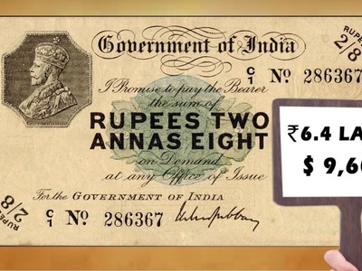 First Paper Money Auctioned for Rs 6 Lakhs -  Mintage World's Hidden Treasures