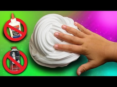 Fluffy Slime without Glue or Shaving Cream! DIY Fluffy Slime How To. NO BORAX