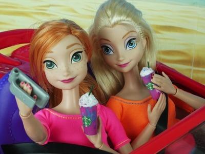 Frozen Elsa & Anna Try the Starbucks Unicorn Frappuccino + DIY Miniature Doll Starbucks Coffee