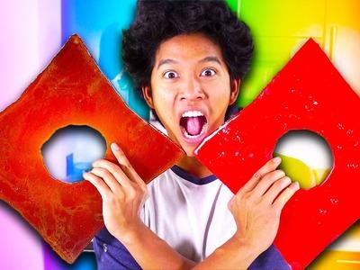 GIANT CANDY NINJA STARS!!! GIANT ROBLOX LOGO!! DIY HOW TO MAKE!!!