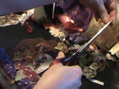 Gypsy Fabric Book Tutorial.Process video DIY page 1