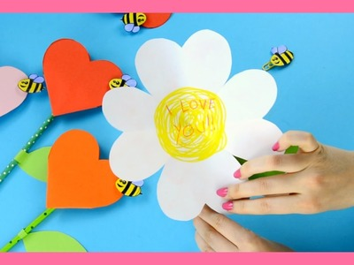 Heart Flower Craft - lovely Mother's Day craft for kids