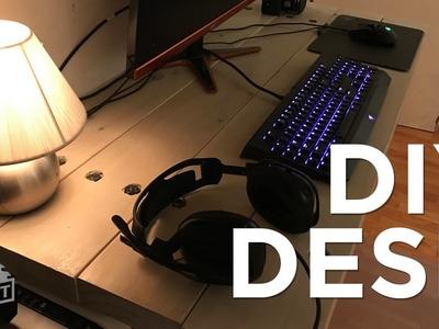 Homemade Desktop and workspace under $20 DIY  - Build It Yourself 4K