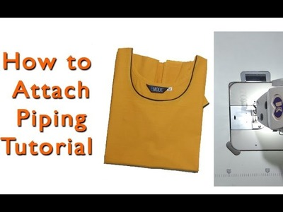 How to attach neck piping tutorial DIY