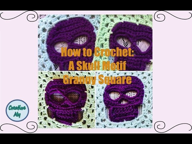 How to Crochet: A Skull Motif Granny Square