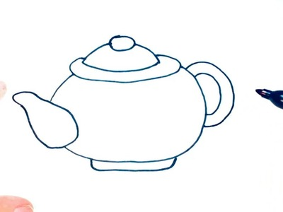 How to draw a Teapot for Kids | Teapot Easy Draw Tutorial
