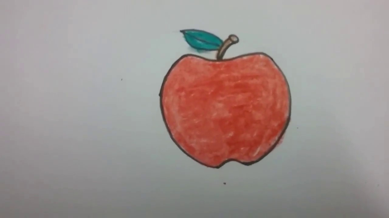 How To Draw An Apple With Basic Shapes Easy Drawing For Kids Apple