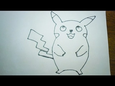 How to draw Pokemon Pikachu || Easy step by step drawing for kids
