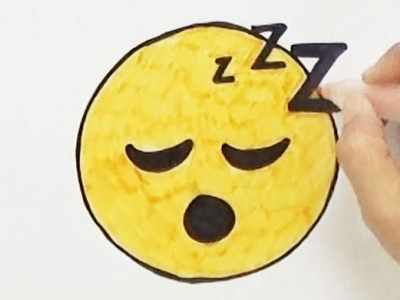 How to Draw Sleep Emoji - Cute and Easy   BoDraw