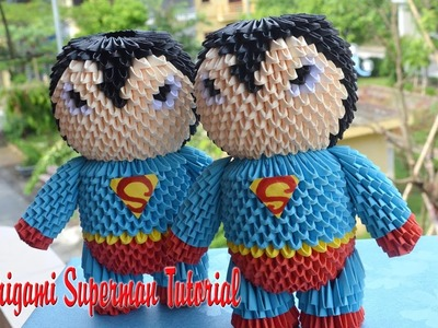 HOW TO MAKE 3D ORIGAMI SUPERMAN | DIY PAPER SUPERMAN