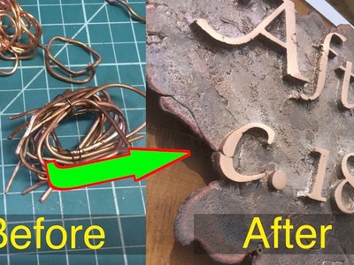 How to make a copper sign for the homestead.  FarmCraft101 DIY