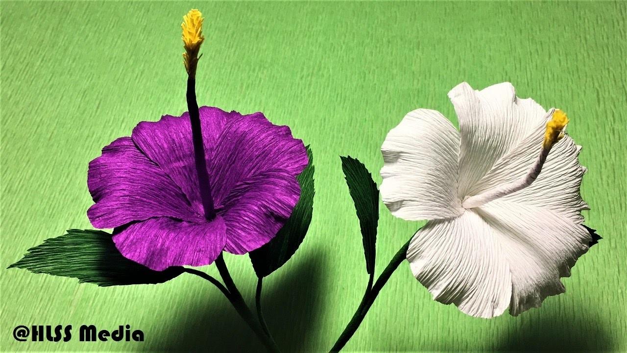 How To Make Diy Origami Hibiscus Crepe Paper Flower Tutorials