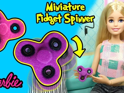 How to Make Fidget Spinner For Barbie Dolls - DIY Easy Doll Crafts - Making Kids Toys