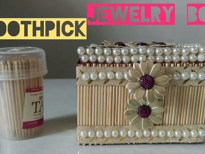 How to make Jewelry Box | Toothpick Jewelry Box | Best out of Waste | DIY Jewelry Box