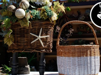 How To Paint And Decorate Wicker Baskets (Easy Basket Deco DIY Tutorial)