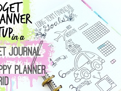 How to Set up a Budget Planner in a Happy Planner. Bullet Journal Hybrid