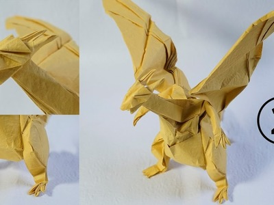 Paper Pokemon - Origami Charizard - リザードン Tutorial - Complex version Part 2 (Henry Phạm)