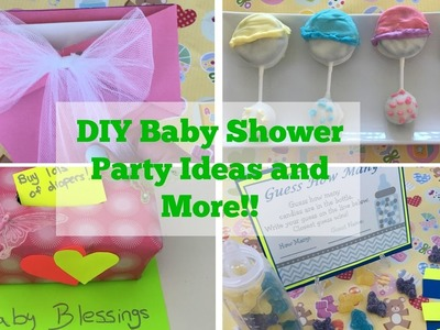 Pinterest DIY Baby Shower Party Ideas (Tutorial) | Decorations and More!!