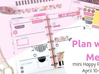 Plan With Me- April 10-16- mini Happy Planner