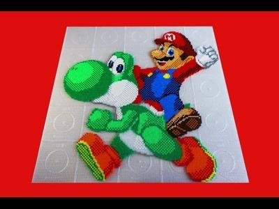 Super Mario: YOSHI & MARIO - Hama Beads. Perler Beads