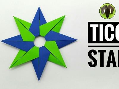 Tico Star - 8 Pointed (Design by Maria Sinayskaya) - DIY Modular Tutorial by Paper Folds