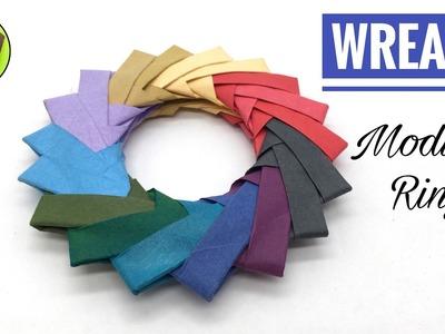 WREATH   Modular Ring - DIY Origami Tutorial by Paper Folds