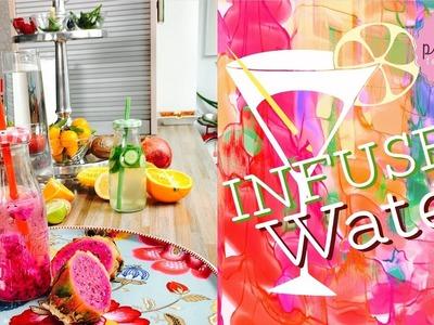 10x INFUSED WATER | Pink Pie Factory | Lara-Marie | How to make FRUITY WATER | DIY Healthy Drinks