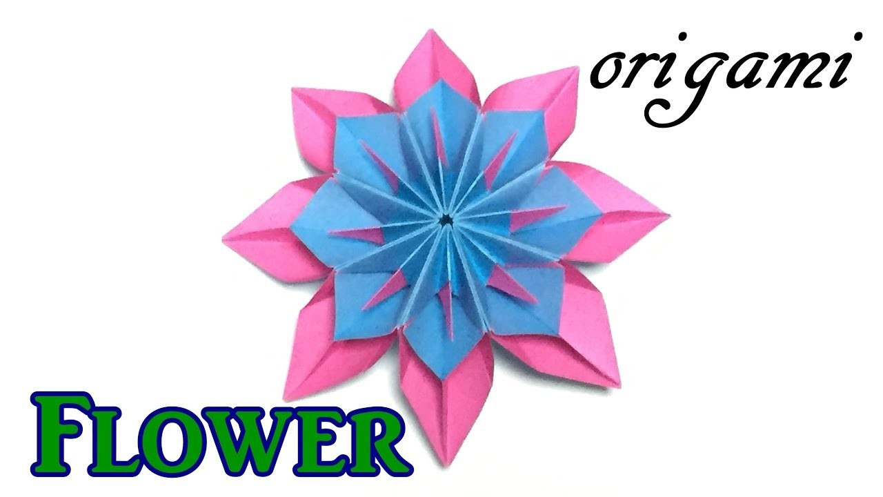 Amazing Paper Flower Origami Modular Flower Tutorial Easy But Cool