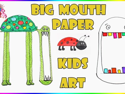 Big Mouth Animals Funny Paper Art  | DIY Paper Crafts For Kids | Balloon Mask