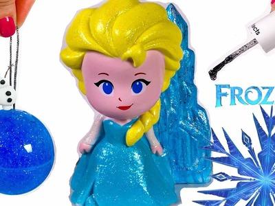 Disney Frozen Elsa Design A Vinyl Doll DIY Frozen SLIME Surprise Toys - Glitter Color Nail Polish