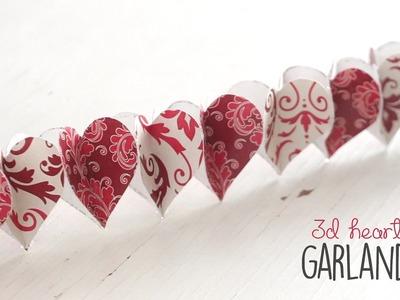 DIY: 3D Heart Garland